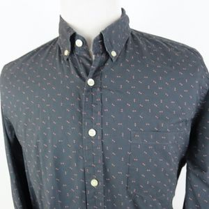 J Crew Large Button Down L/S Shirt Arrowhead Dots
